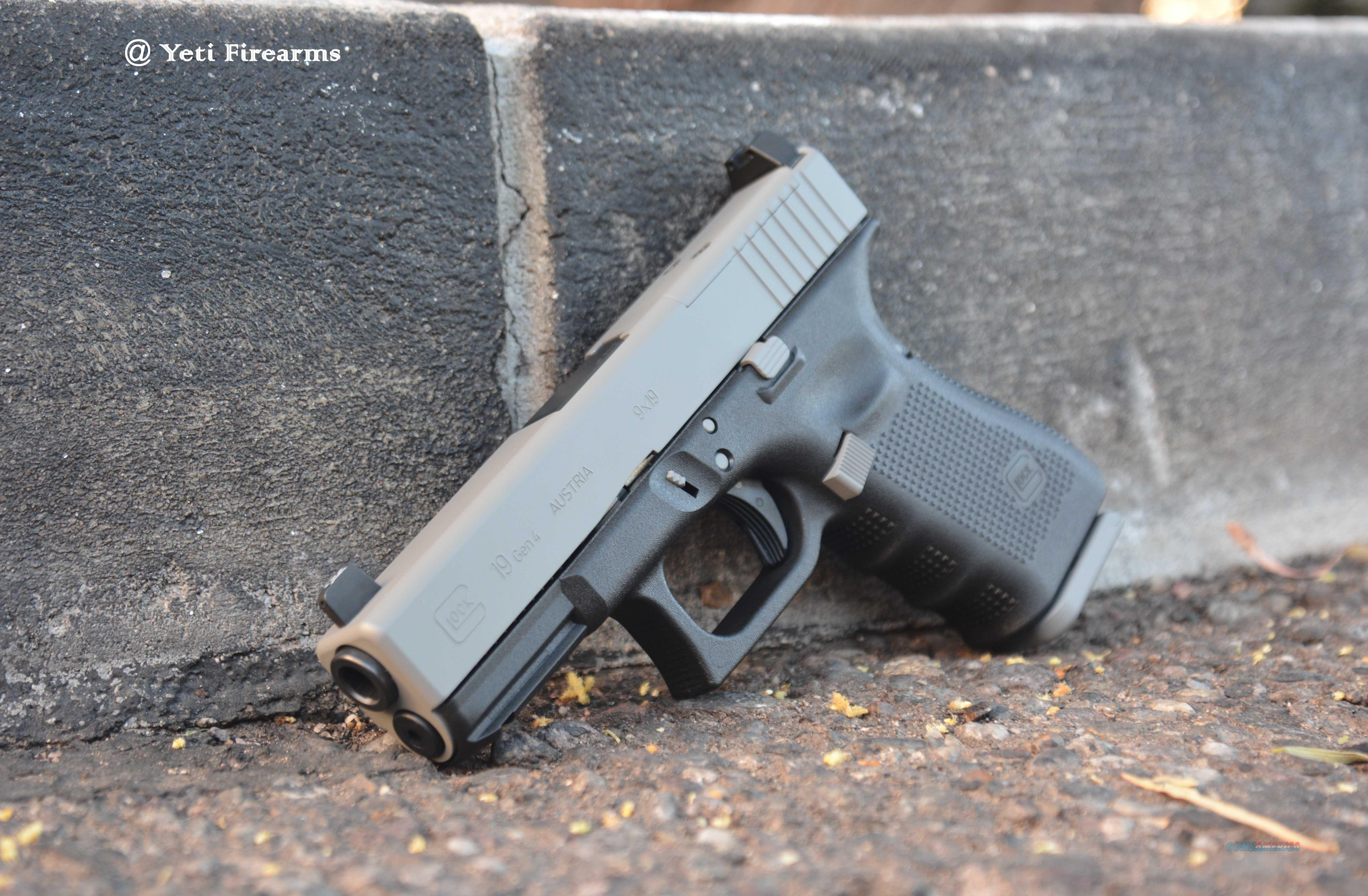 X-Werks Glock 19 Gen 4 MOS 9mm Ghost Grey Supp NS  Guns > Pistols > Glock Pistols > 19