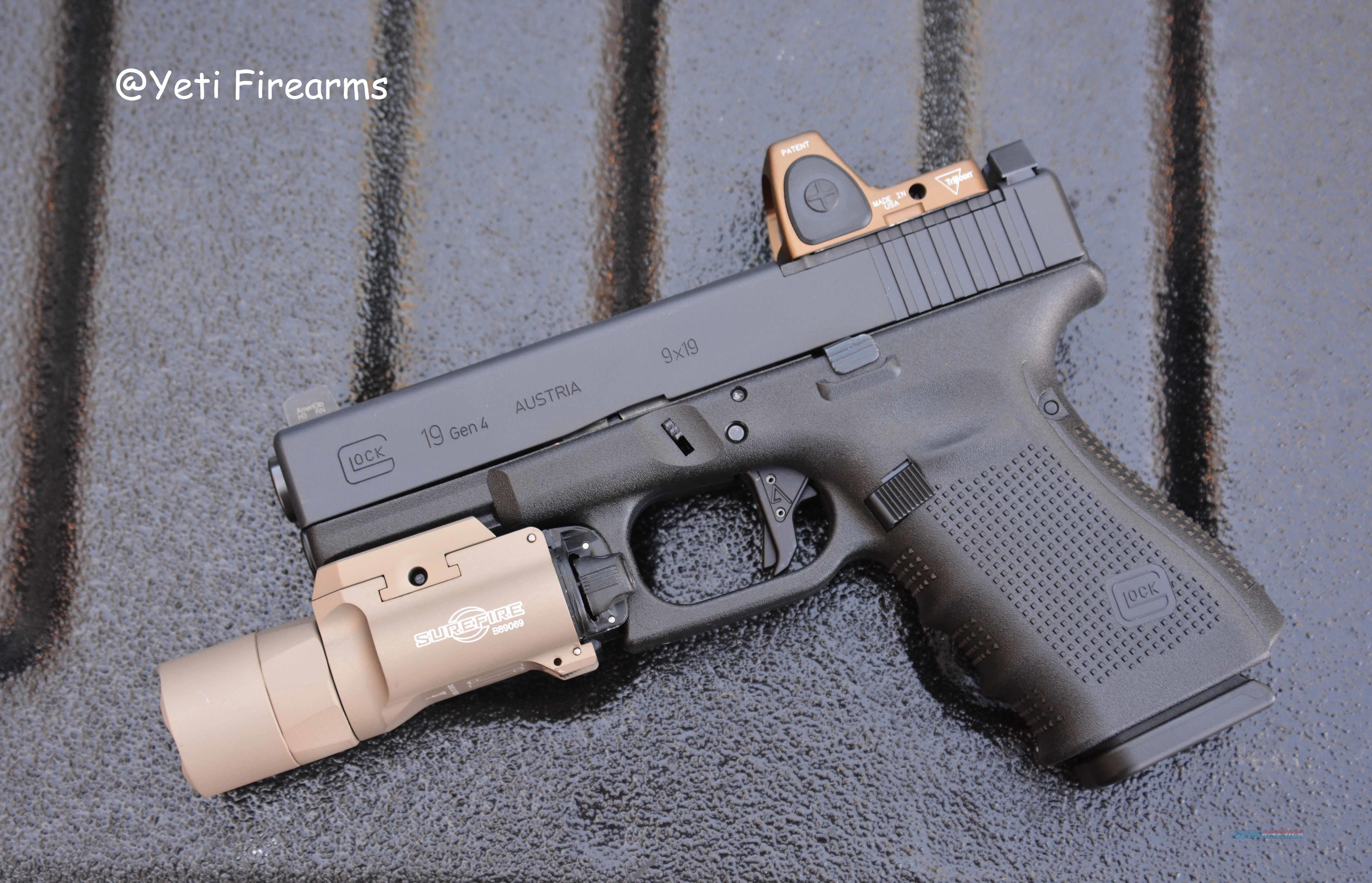 Glock 19 G4 MOS 9mm RM06 HRS SF X300 Agency Arms  Guns > Pistols > Glock Pistols > 19/19X