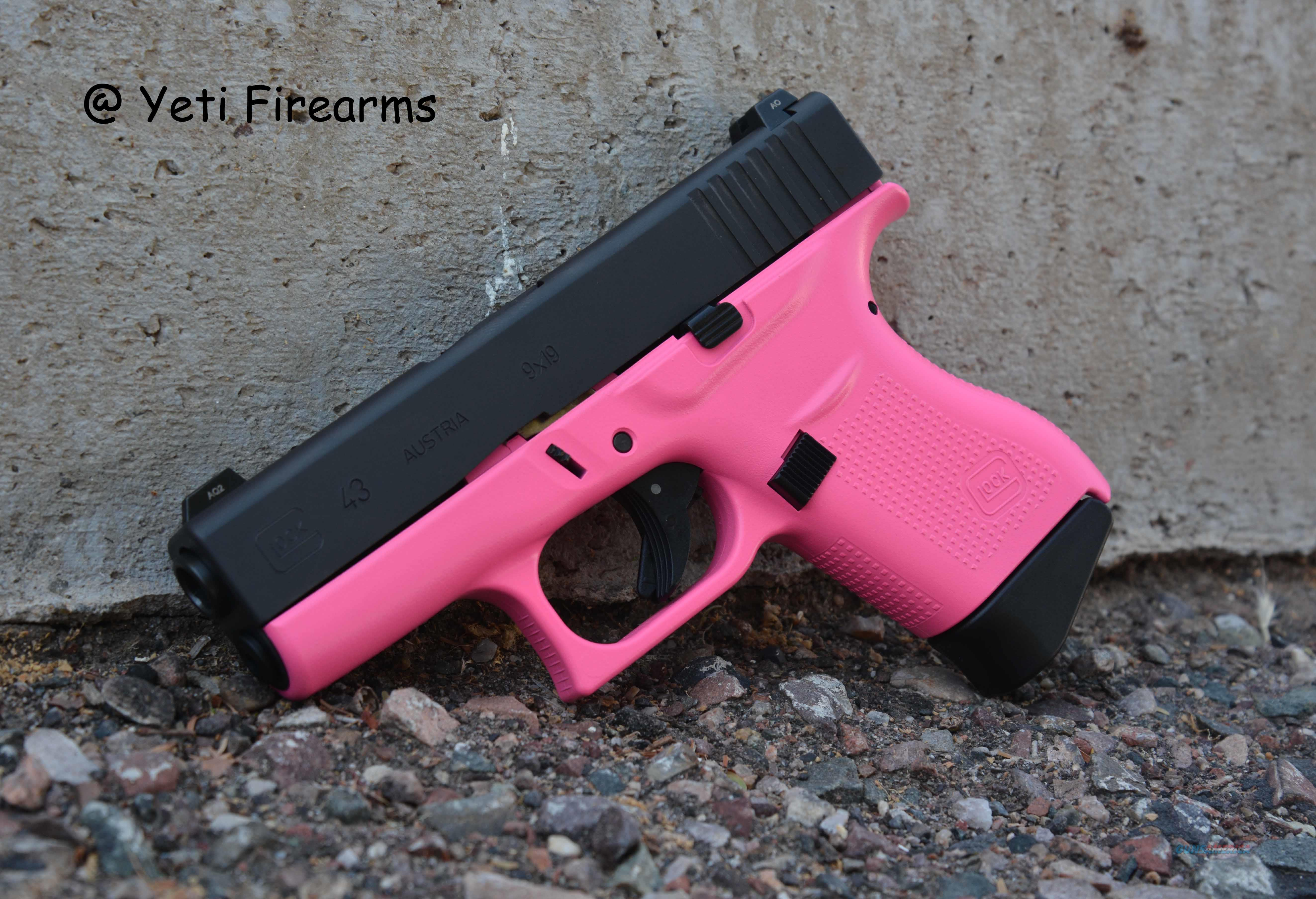 X-Werks Glock 43 9mm Hot Pink W/ Glock Night Sight  Guns > Pistols > Glock Pistols > 43