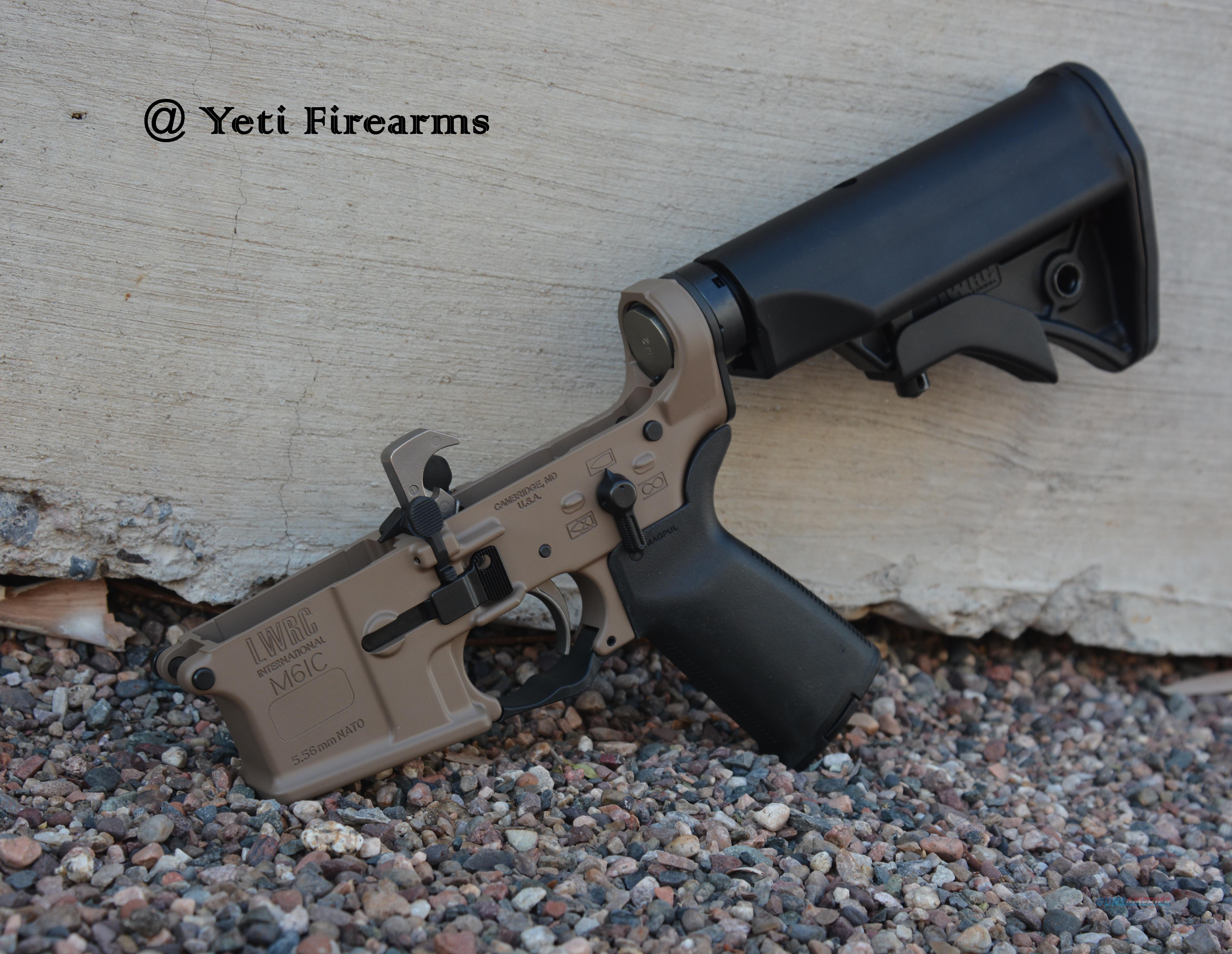 X-Werks LWRC M6IC Magpul FDE Complete Ambi Lower  Guns > Rifles > AR-15 Rifles - Small Manufacturers > Lower Only