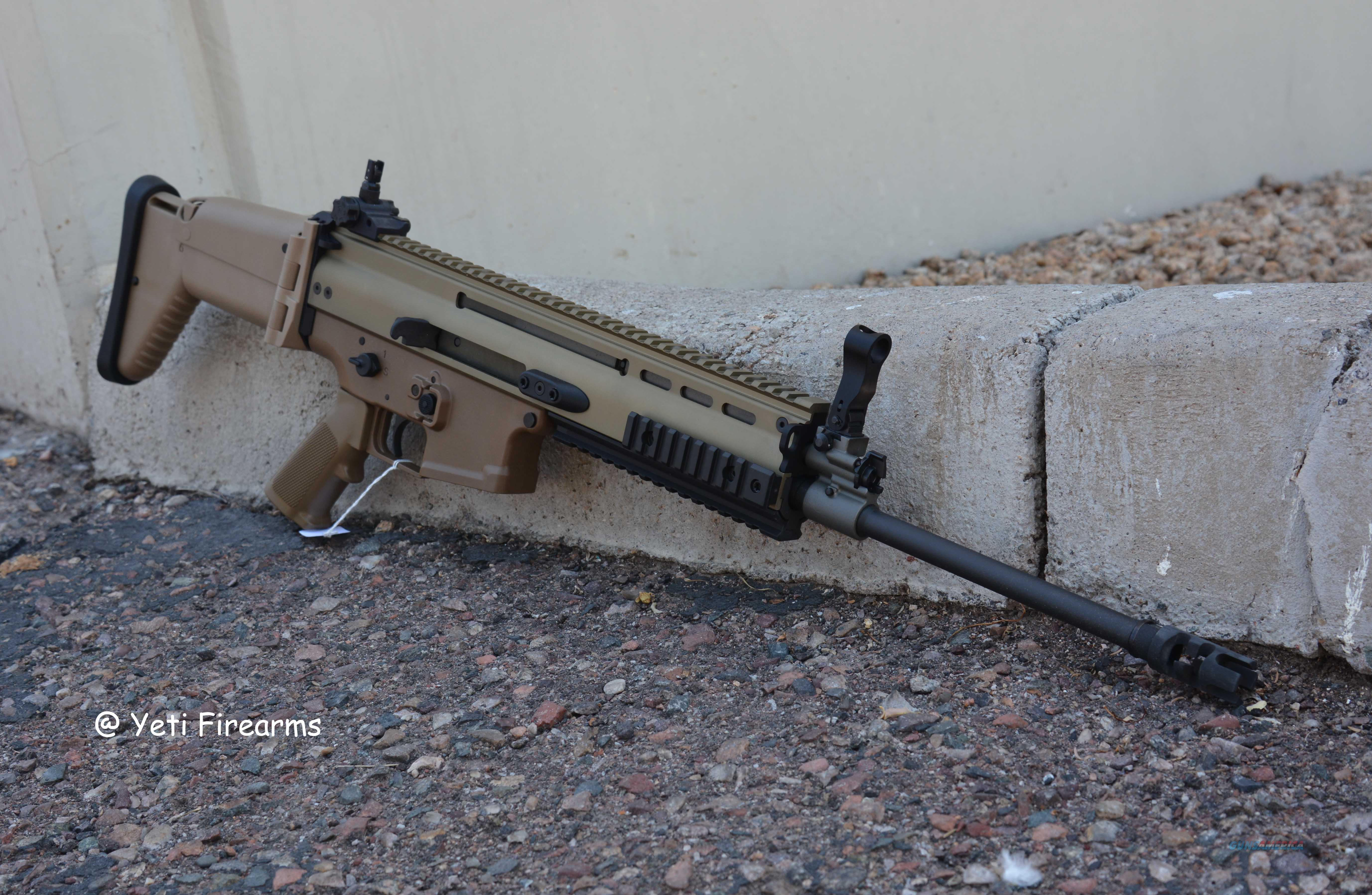 "FN SCAR 16S 5.56 FDE 16"" No CC Fee FNH 16 S .223 Guns > Pistols > FNH - Fabrique Nationale (FN) Rifles > Semi-auto > SCAR"