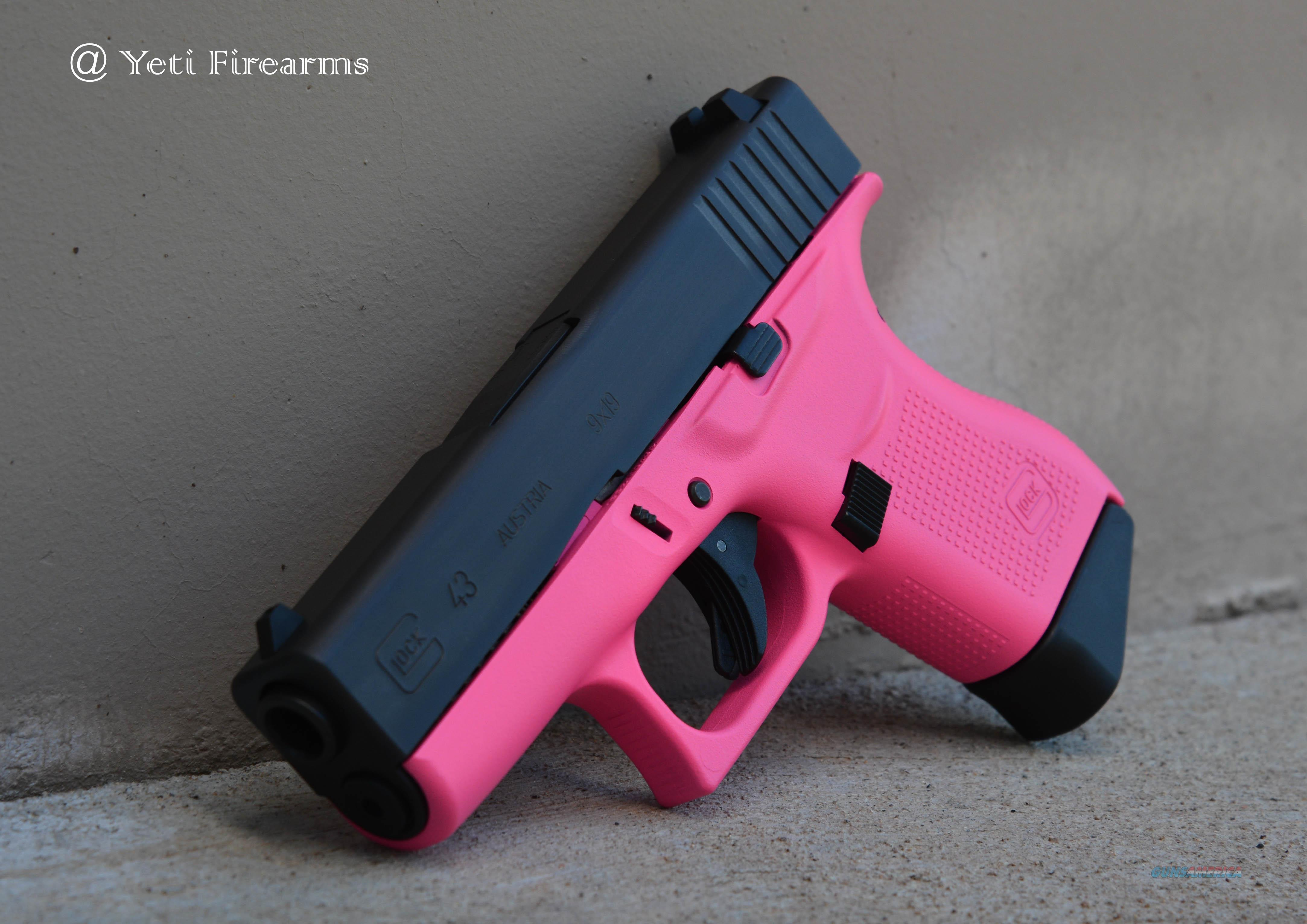 X-Werks Glock 43 9mm Hot Pink No CC Fee 2 Mags  Guns > Pistols > Glock Pistols > 43