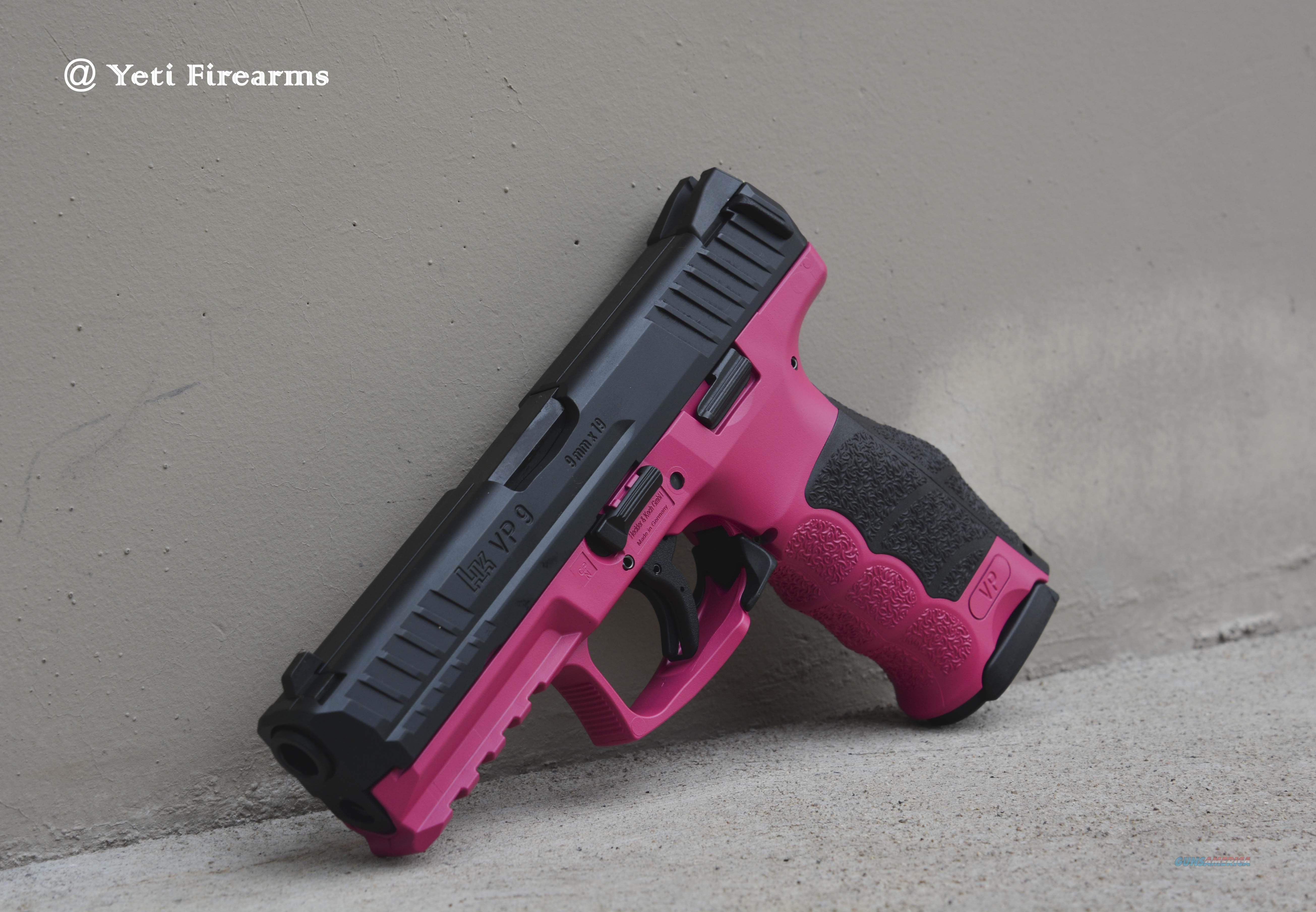 X-Werks H&K VP9 9mm Raspberry Pink No CC Fee VP 9  Guns > Pistols > Heckler & Koch Pistols > Polymer Frame