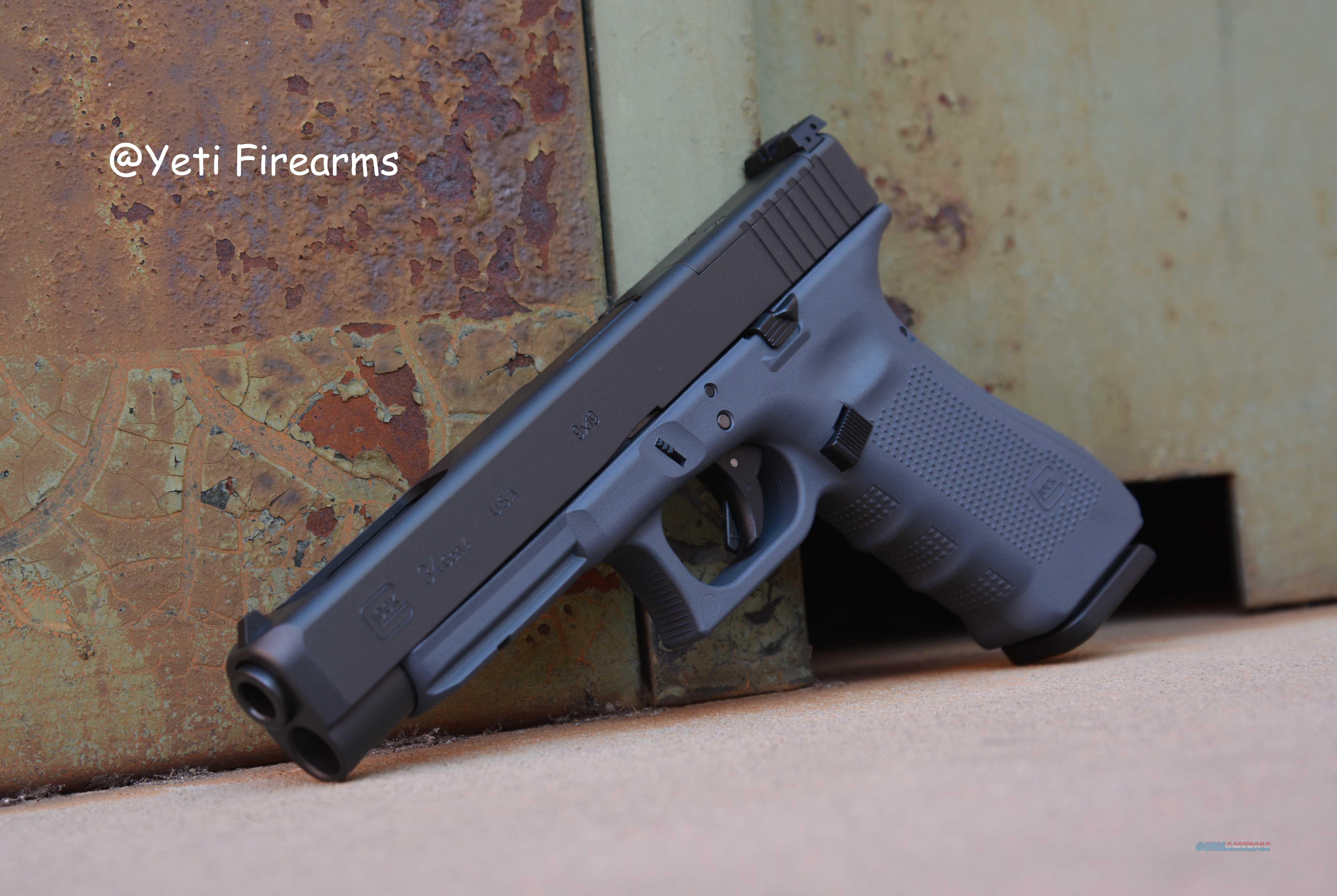 Glock 34 G4 MOS 9mm Glock Gray Cerakote 17rnd  Guns > Pistols > Glock Pistols > 34