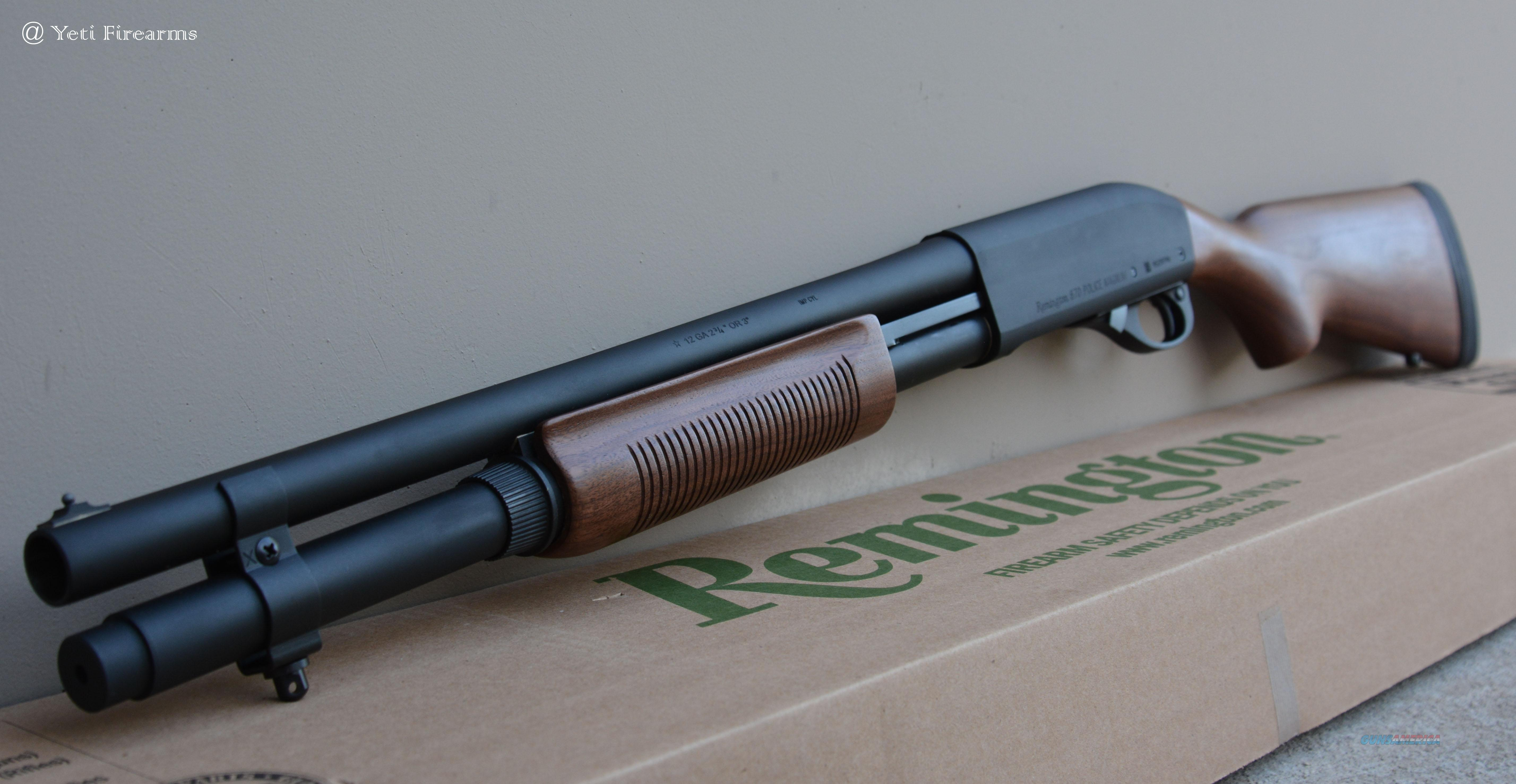 Remington 870 Police Magnum 12 Ga 24903 4903 Wood  Guns > Shotguns > Remington Shotguns  > Pump > Tactical
