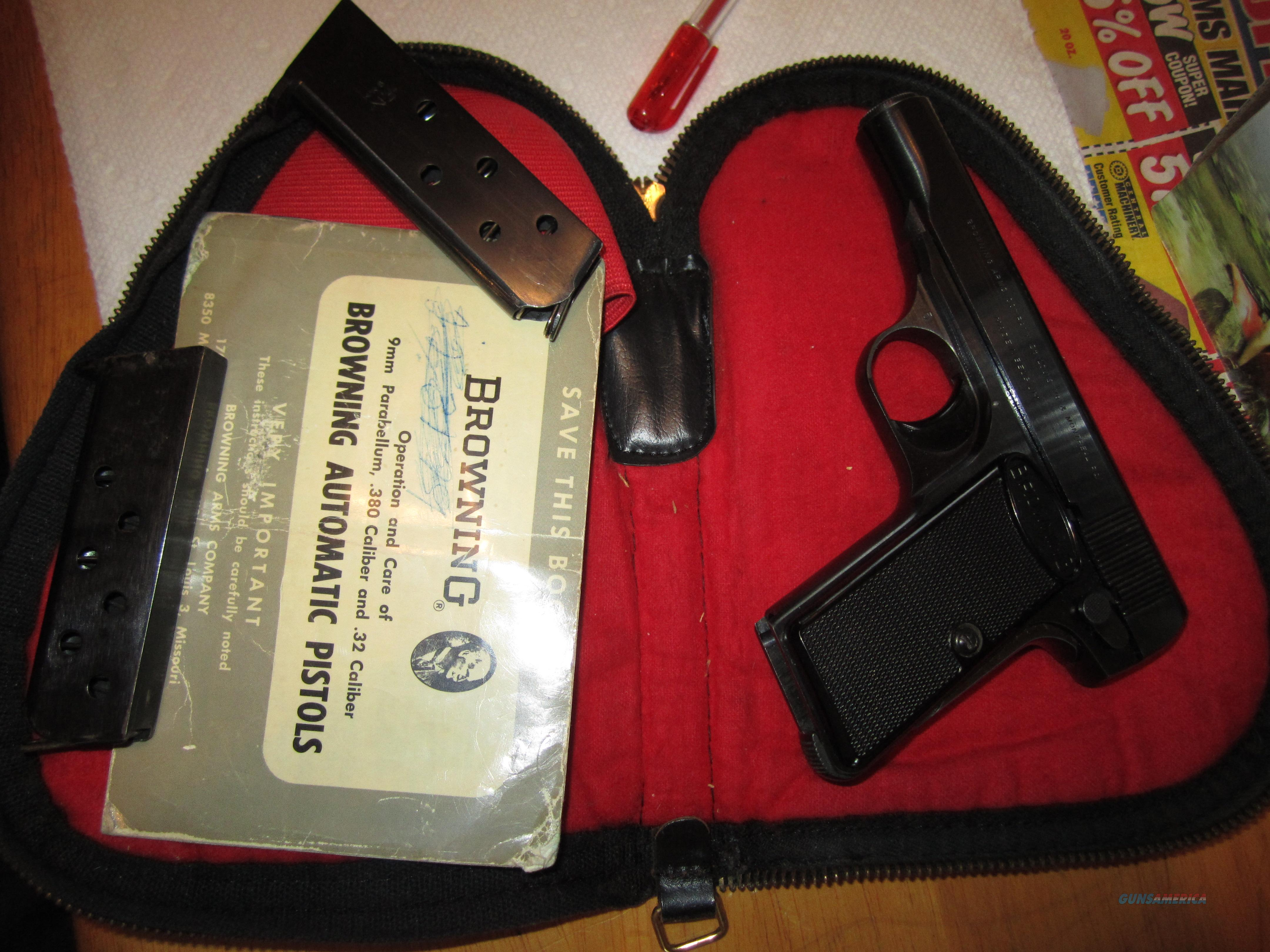 1968 Belgium Browning 1955 .380 with everything + 1 extra mag  Guns > Pistols > Browning Pistols > Other Autos