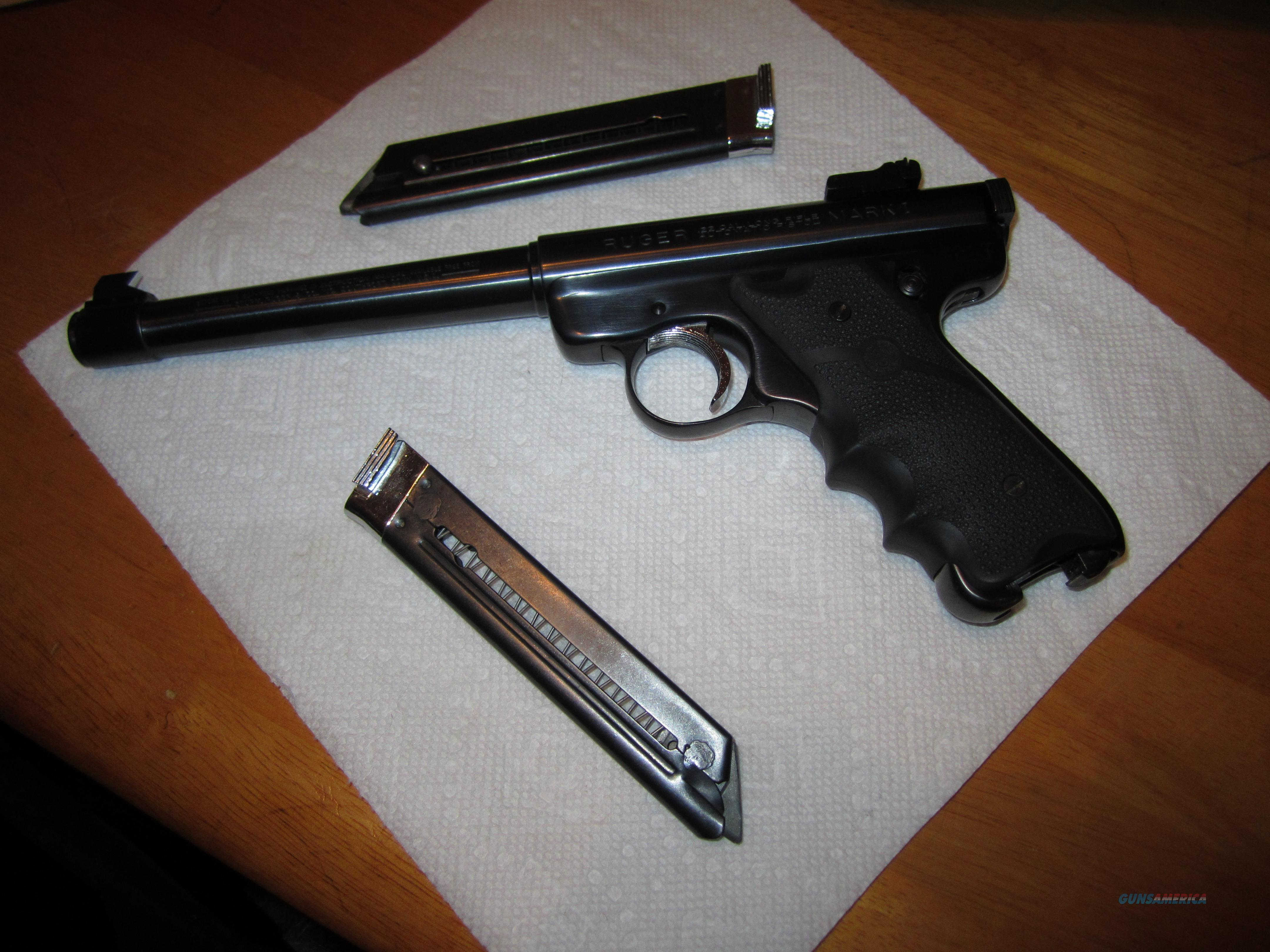 1978 Ruger Mark 1 Tapered 6 7/8 Target Bull Barrel 2 Mags 2 Grips  Guns > Pistols > Ruger Semi-Auto Pistols > Mark I & II Family