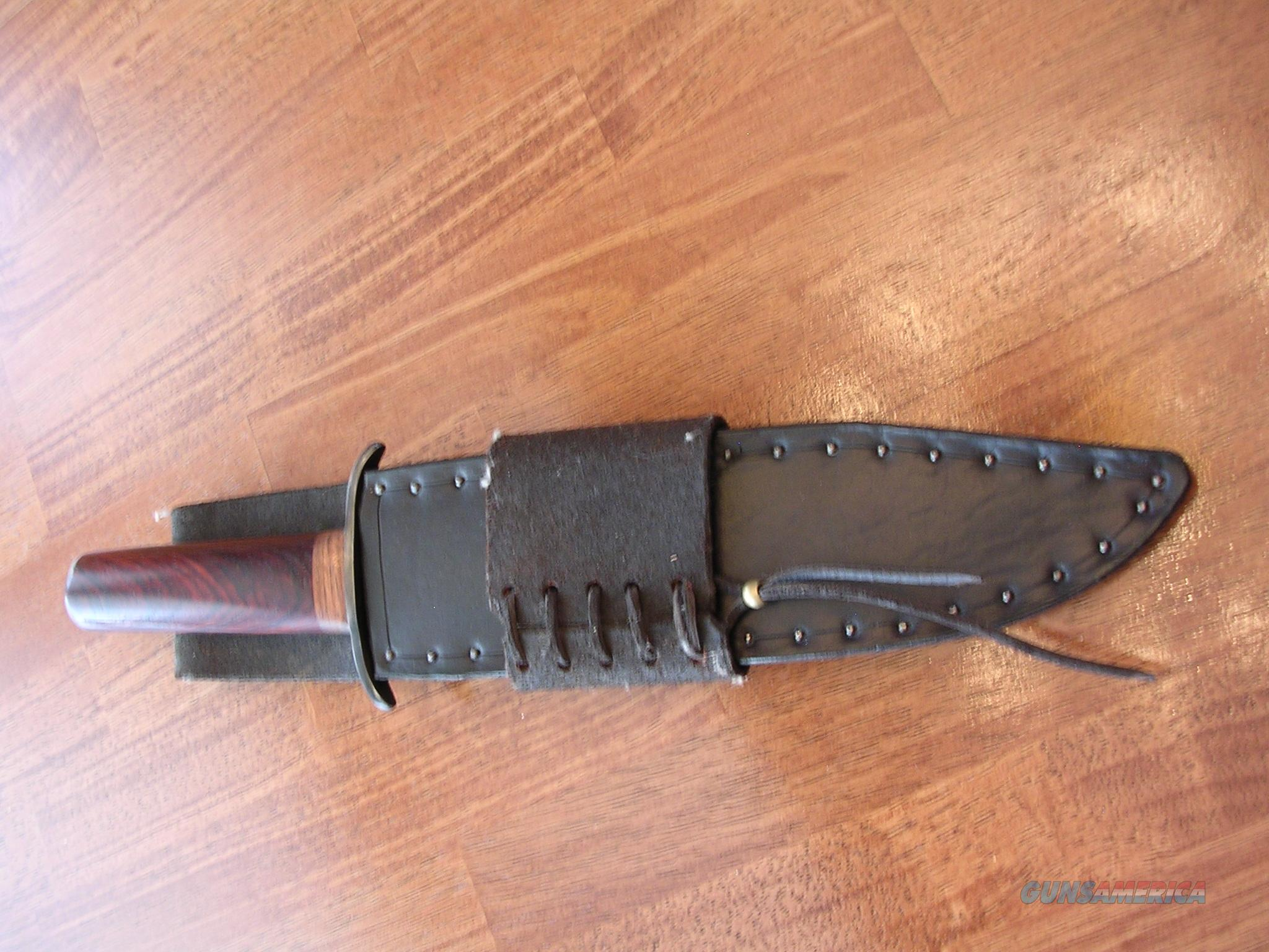 Large Bowie Knife-Blacksmith Made  Non-Guns > Knives/Swords > Knives > Fixed Blade > Hand Made
