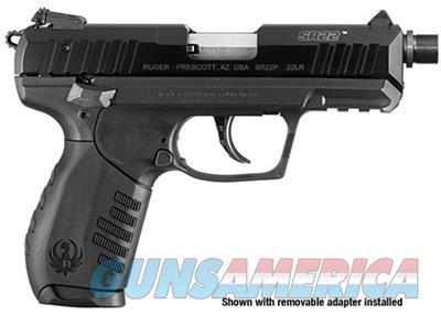 Ruger SR22 22LR Rimfire Pistol with Threaded Barrel 3604 736676036042  Guns > Pistols > Ruger Semi-Auto Pistols > SR Family > SR22