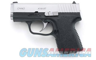 "Kahr Arms CM40 .40 S&W 3"" Barrel 5 Rounds Stainless Steel Slide CM4043 602686077316  Guns > Pistols > Kahr Pistols"
