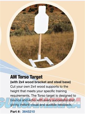 American Security Portable Steel Target Torso 12x24  3645210  Non-Guns > Targets > Steel Targets > Pistol