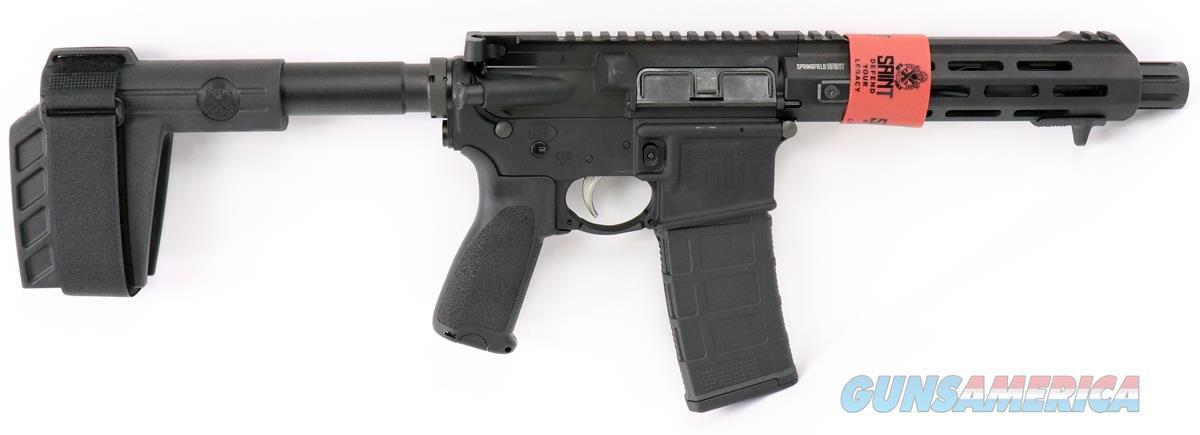 ST975556B: Springfield Armory Saint M-LOK Pistol 5.56 7.5in. 30rds Black SBX-K ST975556B 706397916893  Guns > Pistols > Springfield Armory Pistols > SAINT Pistol