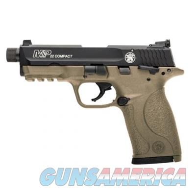 Smith and Wesson 10242 S&W M&P22 LR Pistol 0221888684322 Compact Suppressor Ready FDE .2  Guns > Pistols > Smith & Wesson Pistols - Autos > Polymer Frame