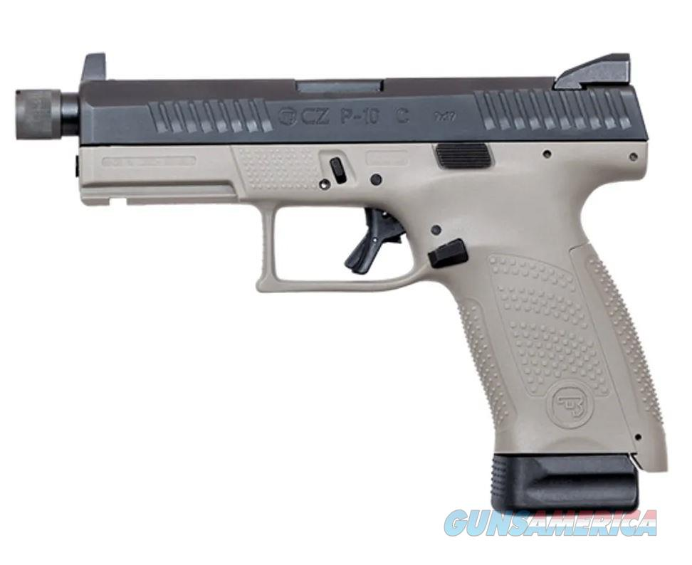 CZ 91519 P-10 Pistol Compact Gray Suppressor Ready Night Sights 17rd  Guns > Pistols > CZ Pistols