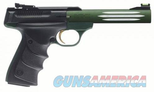 "Browning 051516490 Buck Mark Lite Green Semi Auto Pistol .22 LR 5.5"" Barrel 10 Rounds Adjustable Rear Sight Fiber Optic Front Sight URX Grips Black/Green  051516490  023614440192  Guns > Pistols > Browning Pistols > Buckmark"