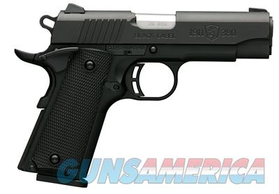 Browning  051905492 Black Label 1911-380 .380 ACP Pistol - 051905492    023614044468  Guns > Pistols > Browning Pistols > Other Autos