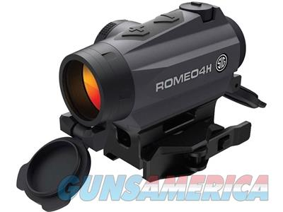 Sig Sauer ROMEO4H Red Dot Sight 1x Ballistic Reticle Torx and Quick-Release Mounts Graphite SOR43011 798681567843  Non-Guns > Scopes/Mounts/Rings & Optics > Tactical Scopes > Red Dot