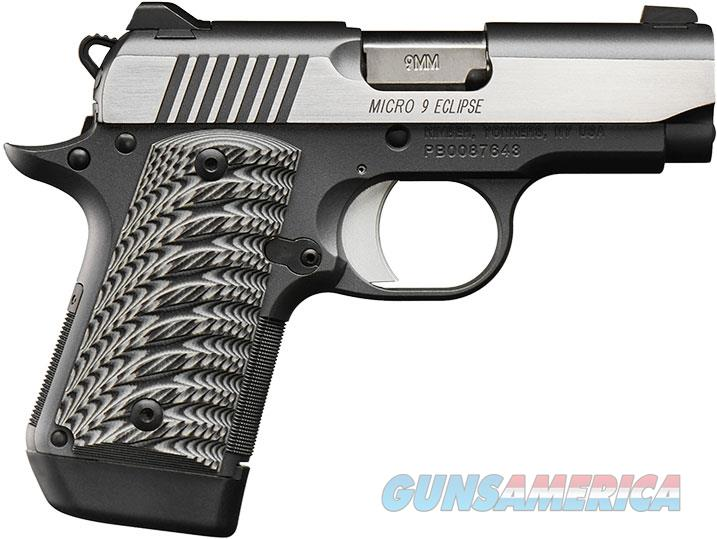 Kimber 3300189 Micro 9 Eclipse Pistol - 9MM, 3.15 in Barrel, Polished Stainless Finish  Guns > Pistols > Kimber of America Pistols > Micro 9
