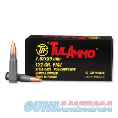 TulAmmo 7.62x39mm 122 Grain Full Metal Jacket 1000 Round Case UL076240 814950010046   Non-Guns > Ammunition