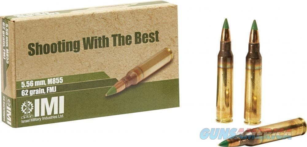 IMI M855 5.56x45mm NATO 62 Grain Green Tip 1000 Round Case  10-172-9868US 814326020167  Non-Guns > Ammunition