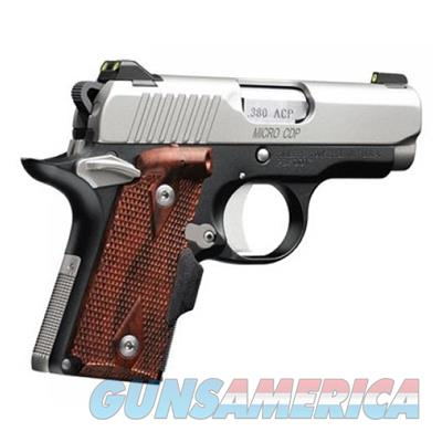 "Kimber Micro Carry CDP (LG) Pistol W/ Crimson Trace Lasergrips and Night Sights .380 2-3/4"" Satin Silver Finish 6 Round, 3300081 669278330815  Guns > Pistols > Kimber of America Pistols > Micro"