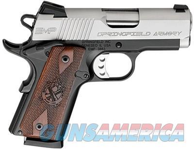 "Springfield Armory 1911 EMP 9mm 3"" Pistol - Wood Grips  Guns > Pistols > Springfield Armory Pistols > 1911 Type"
