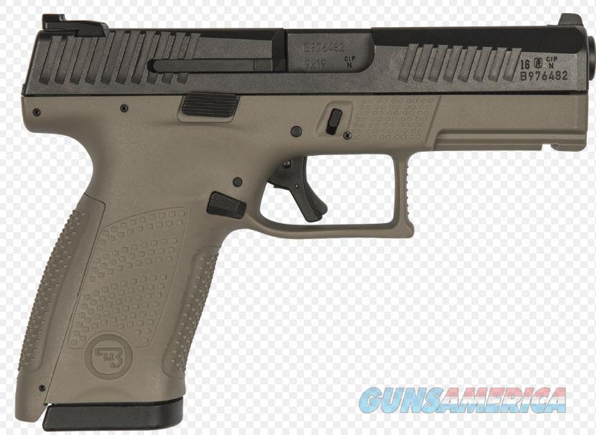 "CZ-USA CZ P-10 C, 9mm, Compact, (2)-15Rd, FDE, 4.02"" Night Sights – 91521   806703915210  Guns > Pistols > CZ Pistols"