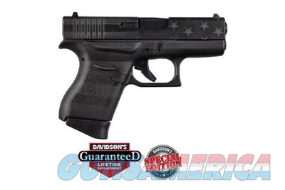 Glock 43 9mm Black Grey American Flag PI4350201CKBGFL 764503027901  Guns > Pistols > Glock Pistols > 43