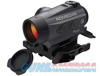 Sig Sauer ROMEO4S Red Dot Sight 1x Ballistic Reticle Torx and Quick-Release Mounts Solar/Battery Powered Graphite SOR43021 798681567867  Non-Guns > Scopes/Mounts/Rings & Optics > Tactical Scopes > Red Dot
