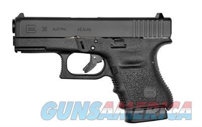 Glock 36 .45 ACP Sub Compact Pistol G36 with Rail PI3650201FGR 764503913884  Guns > Pistols > Glock Pistols > 29/30/36