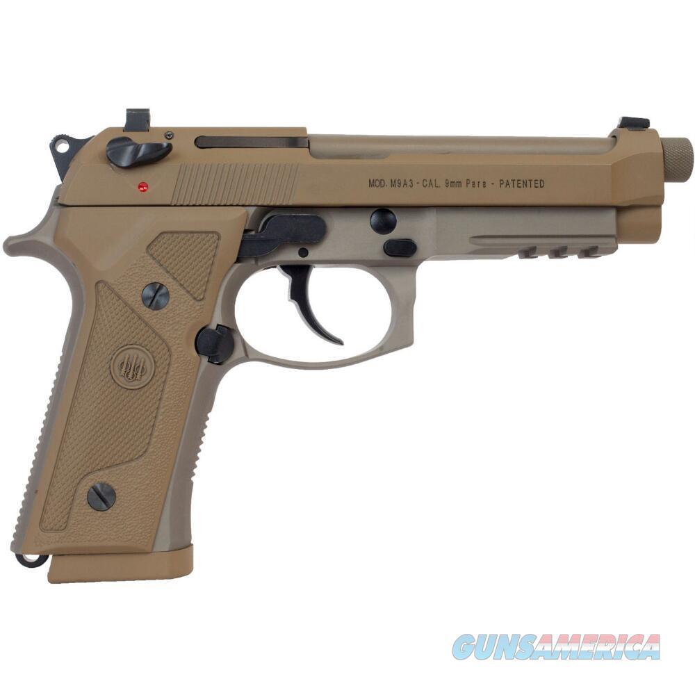 Beretta M9A3 9mm Vertec FDE Threaded J92M9A3GM (w/Decocker)  Guns > Pistols > Beretta Pistols > M9