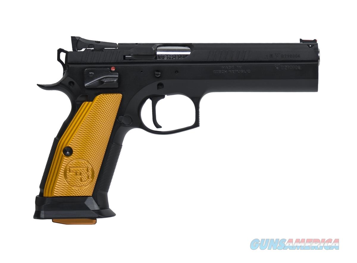 "CZ-USA CZ 75 Tactical Sport Orange 9mm 20+1 5.23"" Competition SAO Pistol 91261  080670391264  Guns > Pistols > CZ Pistols"