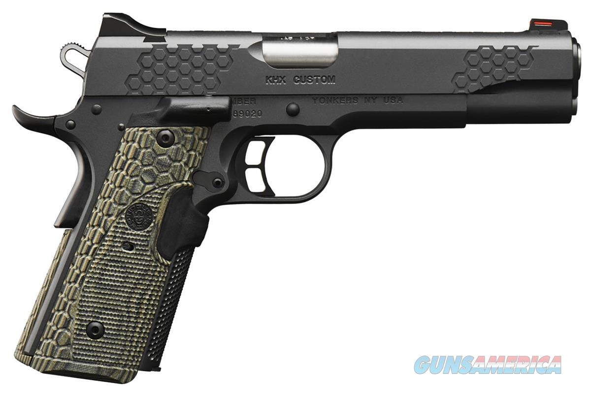 Kimber 3000358 KHX Custom Pistol - 45 ACP, 5 in Barrel, Stainless Steel Frame, Steel Slide, 8 Rd  3000358   669278303581  Guns > Pistols > Kimber of America Pistols > 1911