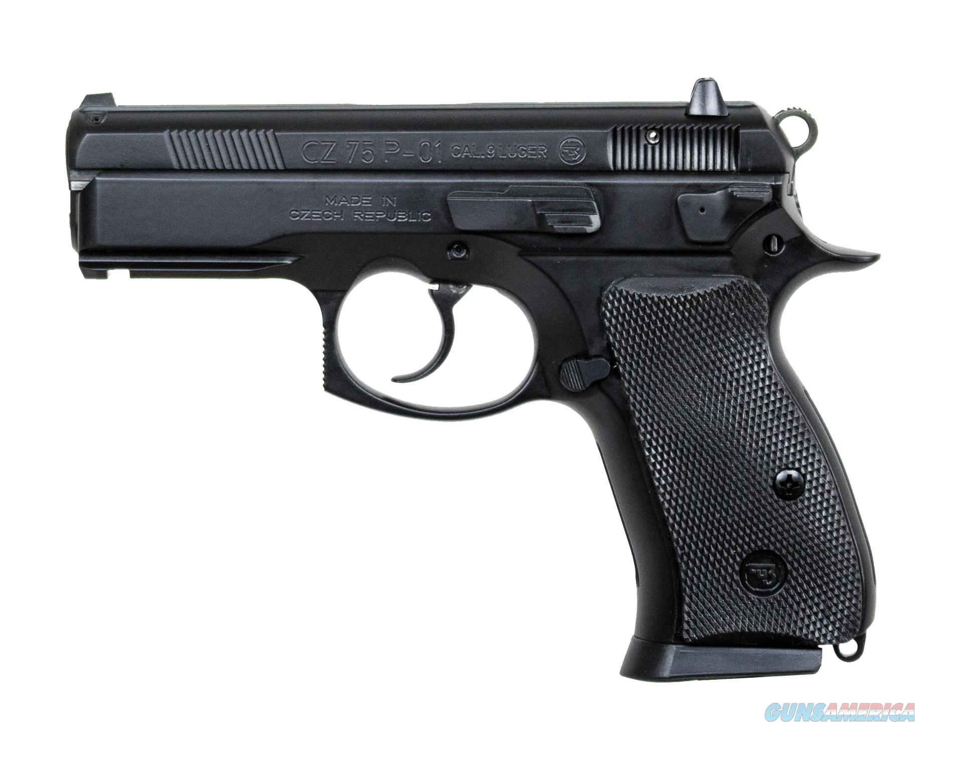 CZ 75 P-01 Compact 9mm Handgun with Rail 91199 806703911991  Guns > Pistols > CZ Pistols