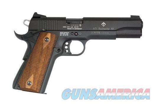 GERG2210M1911 GSG Model 1911 .22 Long Rifle High Velocity 5 Inch Barrel Black Finish Wood Grip 10 Round  GERG2210M1911  813393011504  Guns > Pistols > American Tactical Imports Pistols