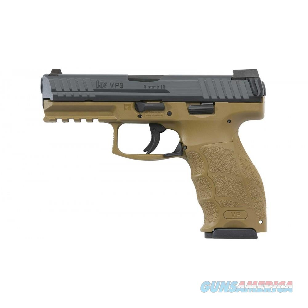HK VP9 9mm Striker Fired LEM Pistol with 2-15 Round Magazines FDE Frame  M700009FDE-A5  642230255432  Guns > Pistols > Heckler & Koch Pistols > Polymer Frame