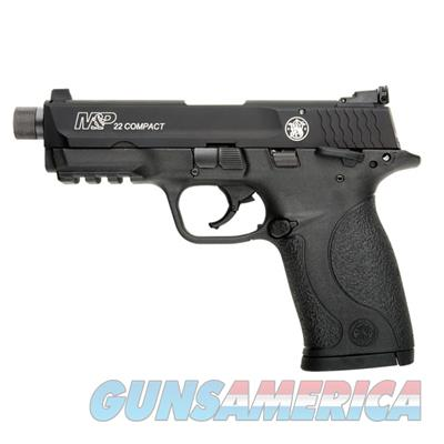 Smith and Wesson S&W M&P22 Compact Suppressor Ready .22 LR Pistol 10199 022188866506  Guns > Pistols > Smith & Wesson Pistols - Autos > .22 Autos