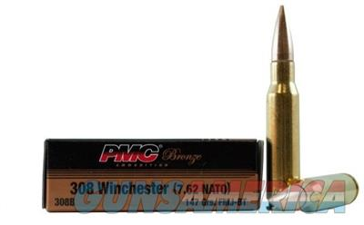 PMC Bronze .308 WIN 147 Grain FMJ 500 Round Case 308B-PMC 741569060288  Non-Guns > Ammunition