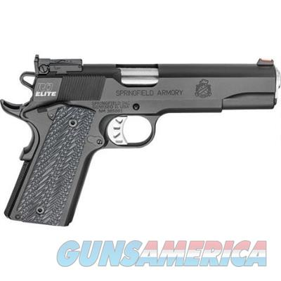 "Springfield Armory PI9128E Range Officer Elite Target .45 ACP 1911 Semi Auto Pistol 5"" Match Grade Barrel 7 Rounds Adjustable Rear Sight G10 Grips Black with Range Bag  PI9128E  706397914967  Guns > Pistols > Springfield Armory Pistols > 1911 Type"