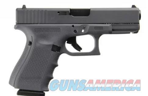 Glock 19 Lipsey's Exclusive Gray Gen 4 9mm 15+1 G19 Pistol   PG1950204GF  764503913372  Guns > Pistols > Glock Pistols > 19/19X