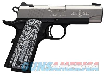 """BROWNING 051924492 1911-380 BLACK LABEL PRO COMPACT SINGLE 380 AUTOMATIC COLT PISTOL (ACP) FO 3.62"""" 8+1 BLACK G10 GRIP STAINLESS STEEL  051924492  023614678021  Guns > Pistols > Browning Pistols > Other Autos"""