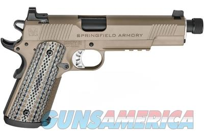 Springfield 1911 Master Class Silent Operator 45ACP Flat Dark Earth (FDE) with Threaded Barrel PCE9105 706397899882  Guns > Pistols > Springfield Armory Pistols > 1911 Type