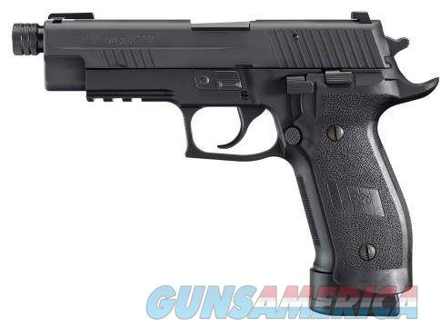 SIG SAUER P226, 9MM, 4.9IN, TAC OPS, BLK, DA/SA, SIGLITE, MAGWELL GRIP, (4) 20RD STEEL MAG, SRT, THREADED (13.5X1MM LH)  E26R-9-TACOPS-TB 798681440801  Guns > Pistols > Sig - Sauer/Sigarms Pistols > P226