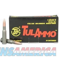 TulAmmo 7.62x54R 148 Grain FMJ 500 Round Case TA762548 814950011012  Non-Guns > Ammunition