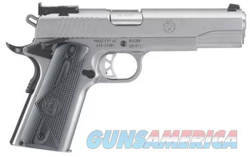"Ruger SR1911 TARGET 45ACP SS/G10 5"" 6736 | BOMAR STYLE ADJ SIGHTS 45 ACP  6736  736676067367  Guns > Pistols > Ruger Semi-Auto Pistols > 1911"