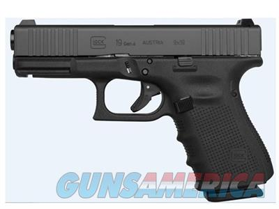 Glock 19 Gen 4 Front Serrated Slide 9mm 15+1 G19 Pistol with Extended Controls PG1950433FS  Guns > Pistols > Glock Pistols > 19