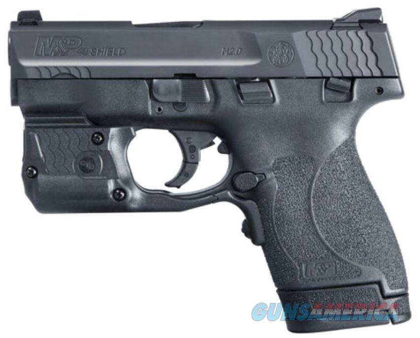 """Smith & Wesson, Shield M2.0, Semi-automatic, Striker Fired, Compact, 40 S&W, 3.1"""", Polymer, Black, 6Rd & 7Rd, 2 Mags, Crimson Trace Laser Guard Pro (Light And Laser), Fixed Sights 11817   022188872323  Guns > Pistols > Smith & Wesson Pistols - Autos > Polymer Frame"""