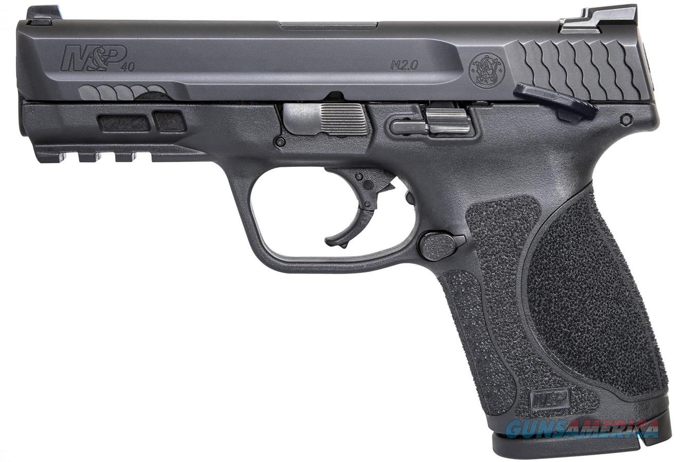"""11687 Smith & Wesson M&P 2.0, Striker Fired, Compact Frame, 40 S&W, 4"""" Barrel, Polymer Frame, Black Finish, 13Rd, 2 Magazines, Thumb Safety, Fixed Sights  Guns > Pistols > Smith & Wesson Pistols - Autos > Polymer Frame"""