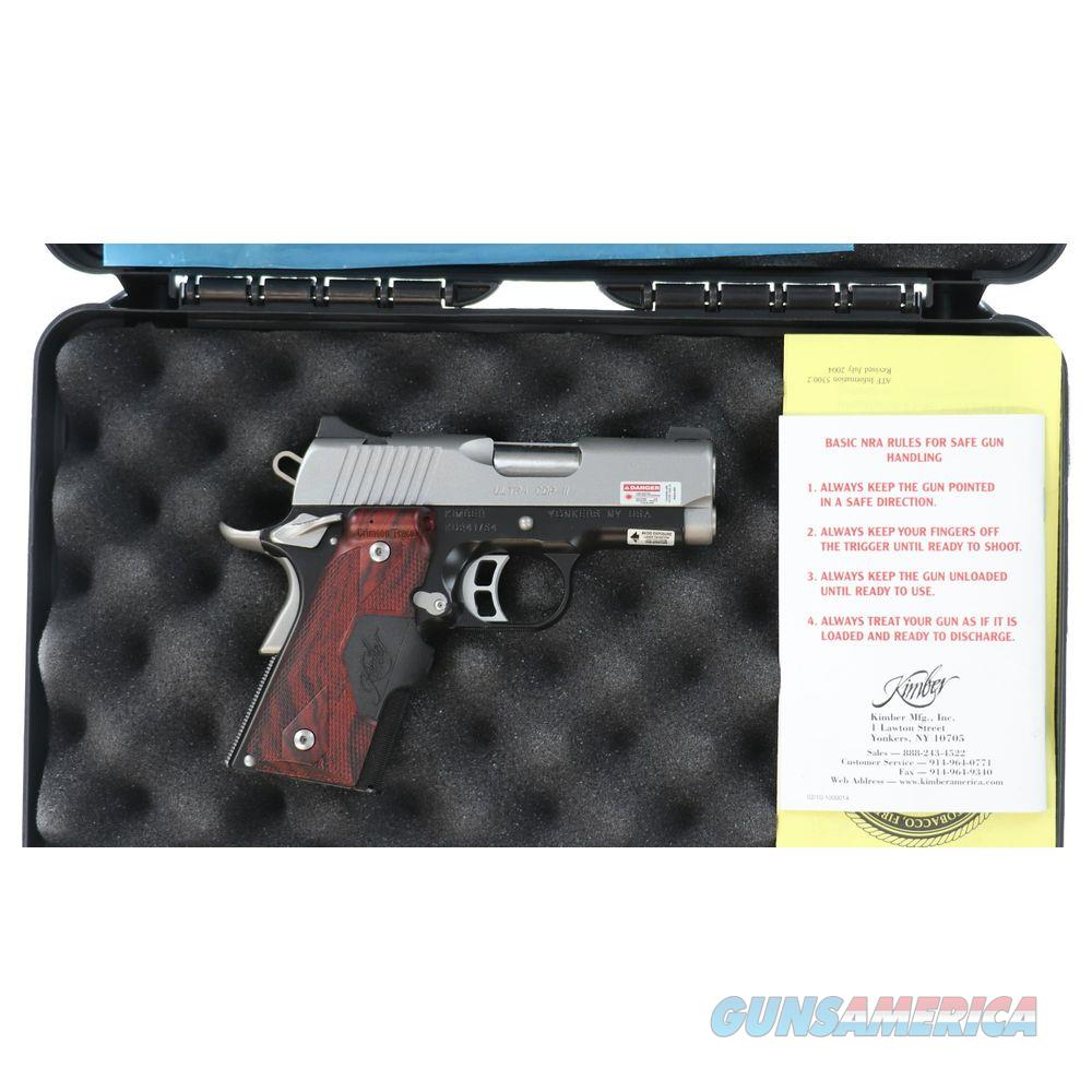 Pre-owned Kimber Ultra CDP II New In Case W/ Laser Grips - consku241754  Guns > Pistols > Kimber of America Pistols > 1911