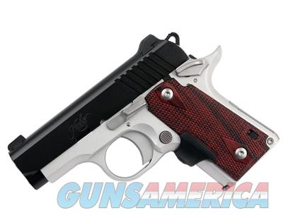 "Kimber Micro 380 Crimson Carry (LG) Pistol W/ Crimson Trace Lasergrips and Fixed Sights .380 2-3/4"" Satin Silver Finish 6 Round, 3300088 669278330884  Guns > Pistols > Kimber of America Pistols > Micro"